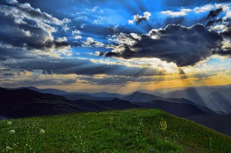 Berge Landschaft Wandern