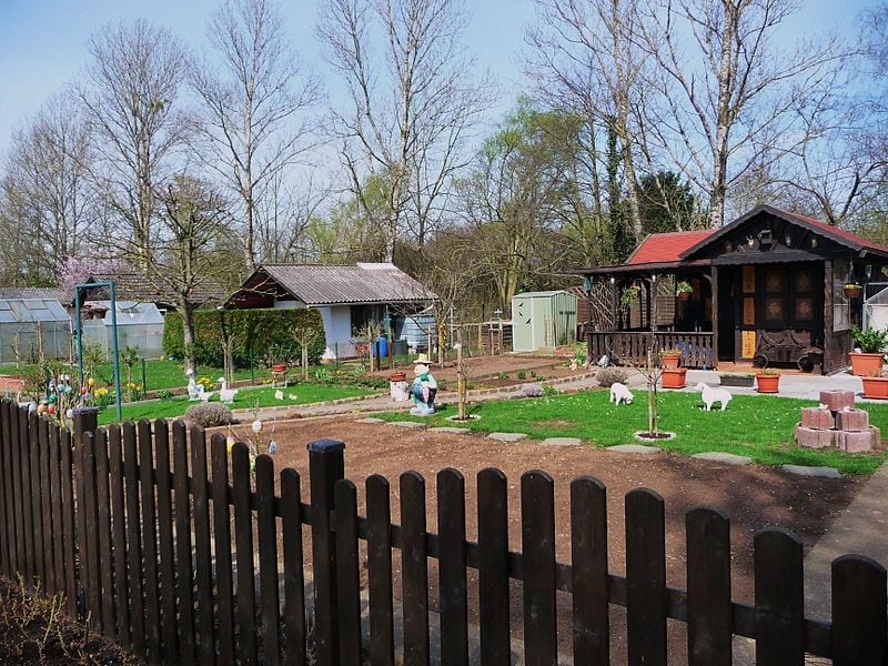 kleingarten, schrebergarten
