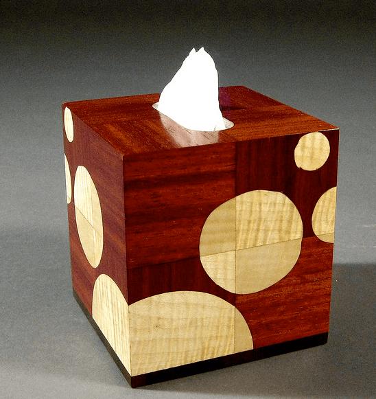 tissue box, Tempo, Taschentuch, Tempo box, holz, kreise, design