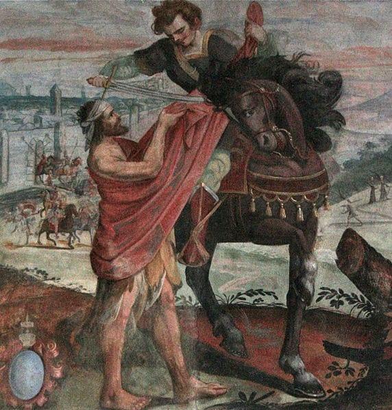 Heiliger Martin von Tours & Der Bettler teilen den Mantel