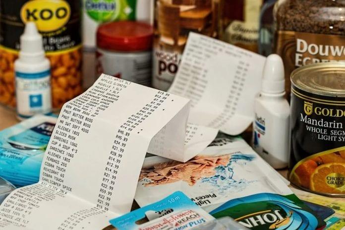 Einkaufstipps Geld Sparen Rechnung