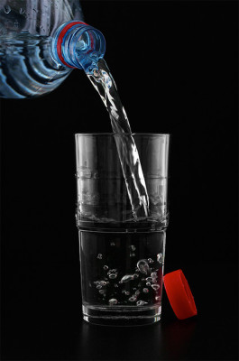 mineral, wasser, wasserglas, wasserflasche