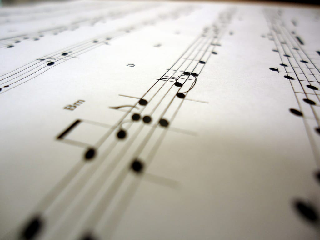 musik, noten, hören