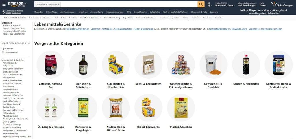 Amazon Lebensmittel Online Kaufen