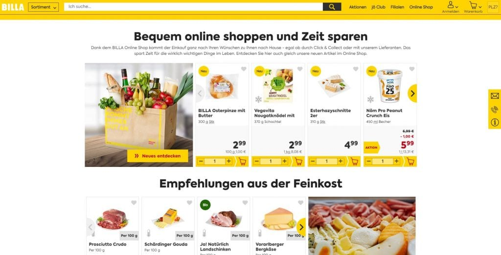Billa Lebensmittel Online Kaufen