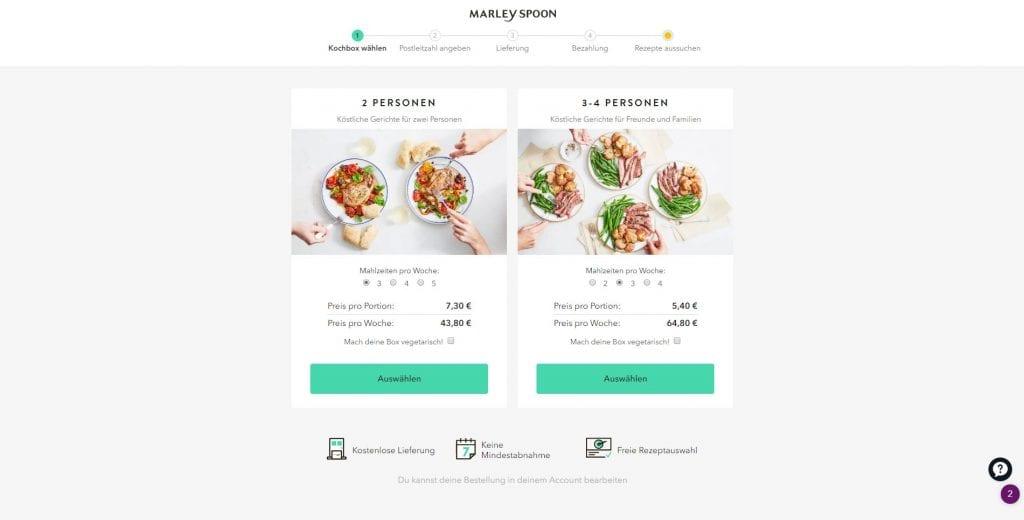 Marley Spoon Lebensmittel Online Kaufen