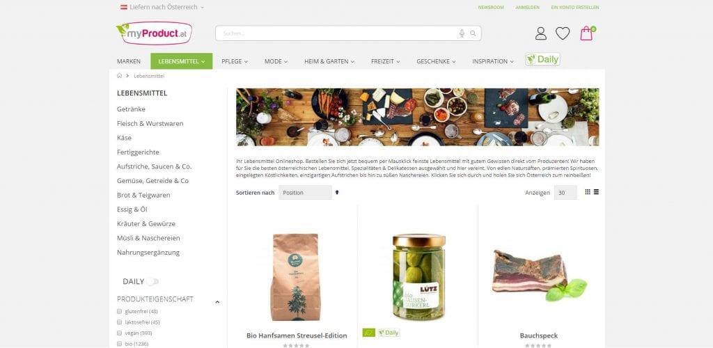 Myproduct Lebensmittel Online Kaufen