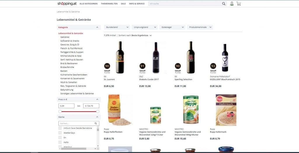 Shoepping Lebensmittel Online Kaufen